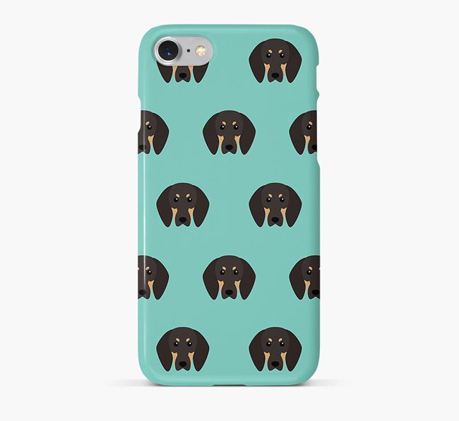 Phone Case with Coonhound Icons