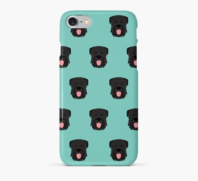 Phone Case with Black Russian Icons