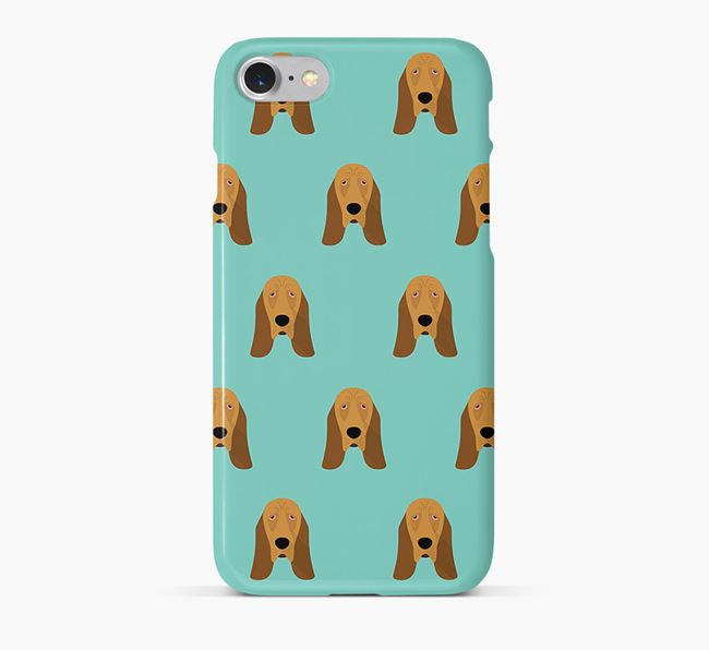 Phone Case with Bloodhound Icons