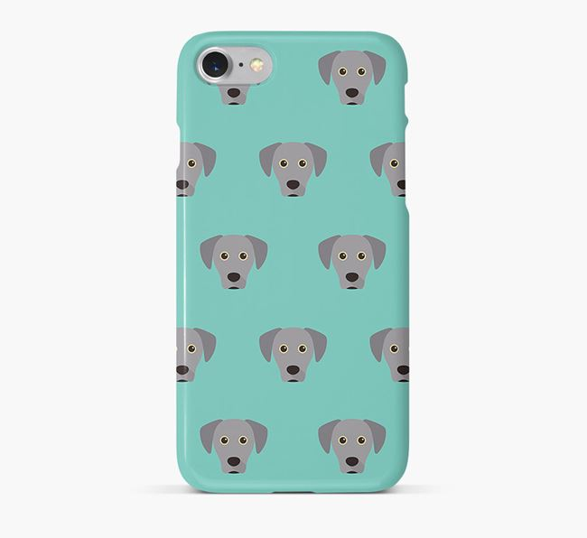 Phone Case with Blue Lacy Icons
