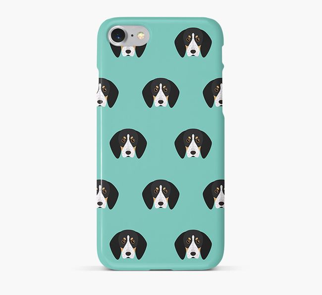 Phone Case with Bluetick Coonhound Icons