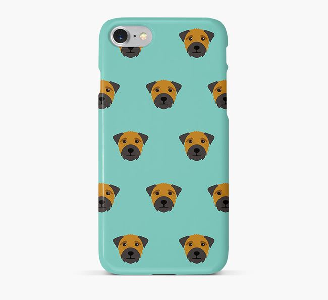 Phone Case with Border Terrier Icons