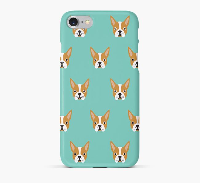 Phone Case with Boston Terrier Icons