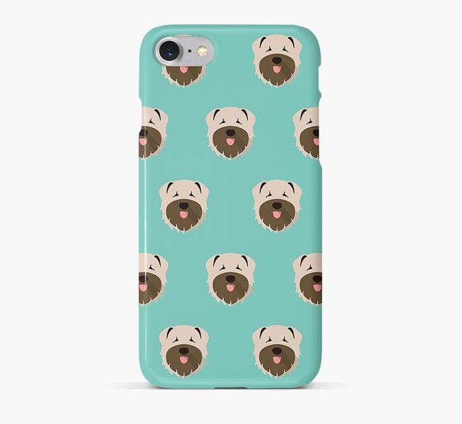 Phone Case with Bouvier Des Flandres Icons