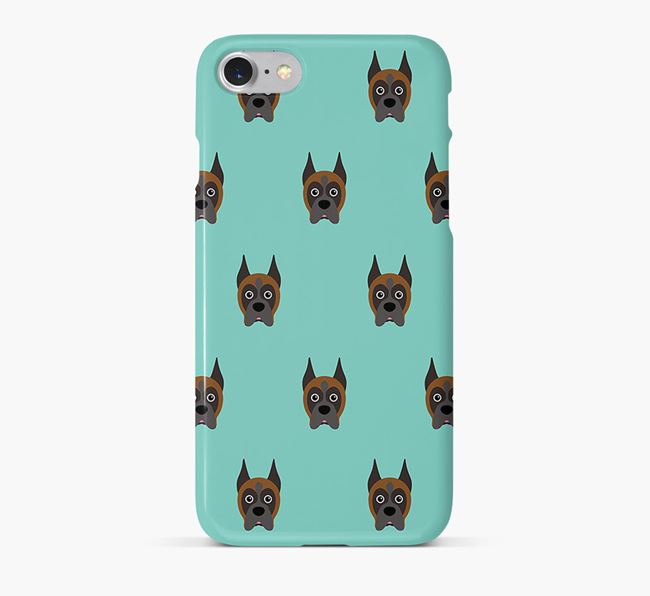 Phone Case with Boxer Icons