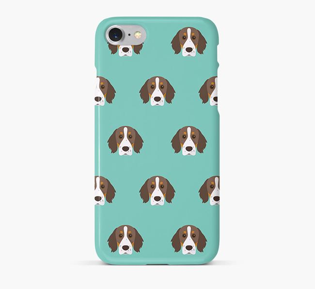 Phone Case with Brittany Spaniel Icons