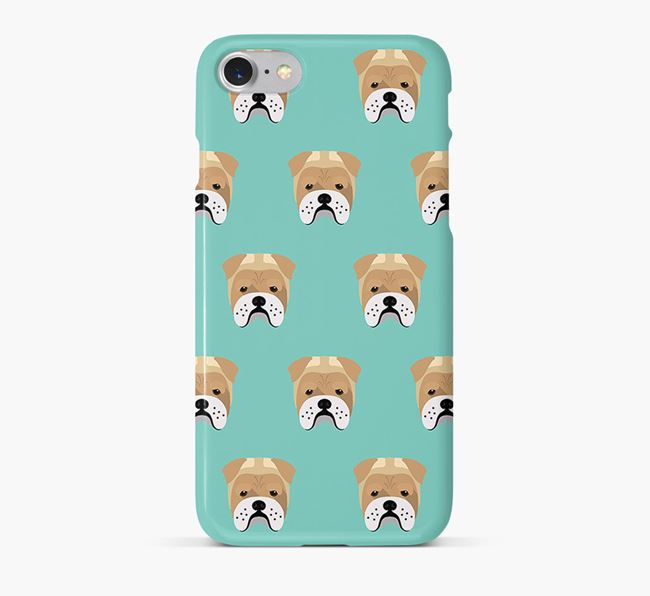 Phone Case with Bull Pei Icons