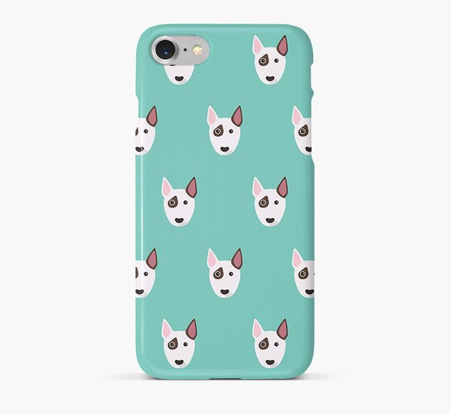 Phone Case with Bull Terrier Icons