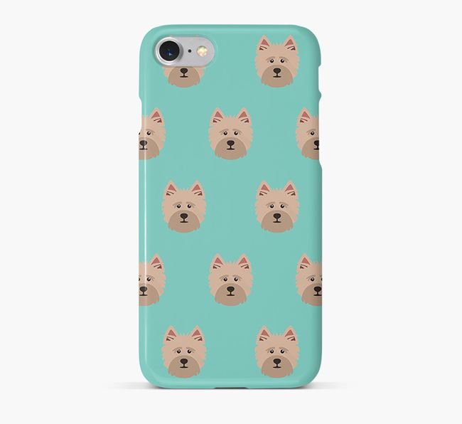 Phone Case with Cairn Terrier Icons
