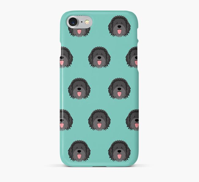 Phone Case with Catalan Sheepdog Icons