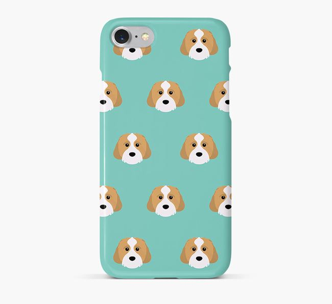 Phone Case with Cavachon Icons