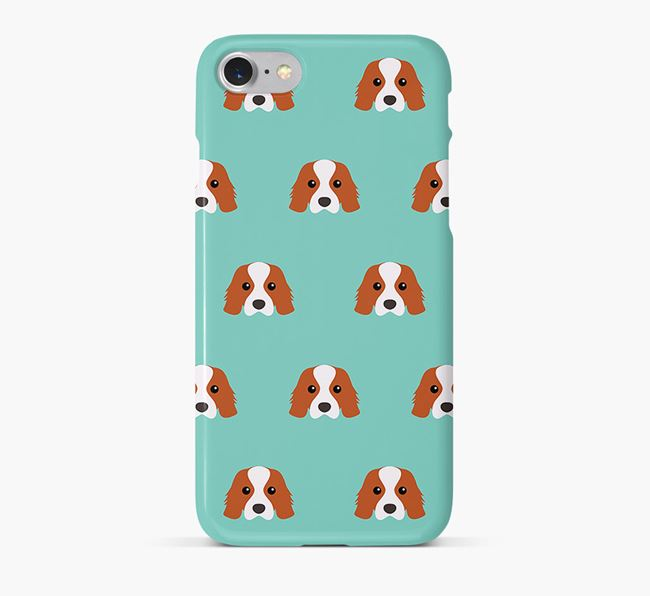 Phone Case with Cavalier King Charles Icons