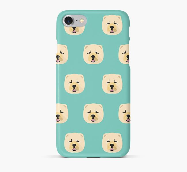 Phone Case with Chow Chow Icons