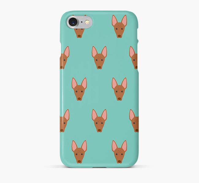 Phone Case with Cirneco Dell'Etna Icons
