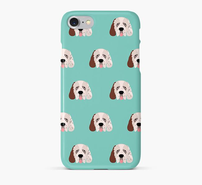 Phone Case with Clumber Spaniel Icons