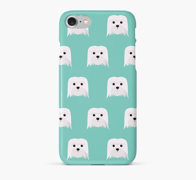 Phone Case with Coton De Tulear Icons