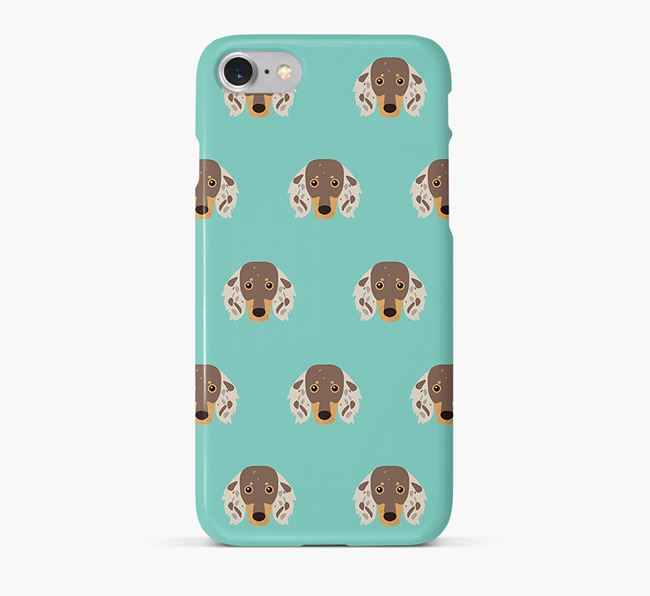 Phone Case with Dachshund Icons