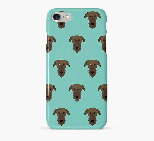 Phone Case with Deerhound Icons