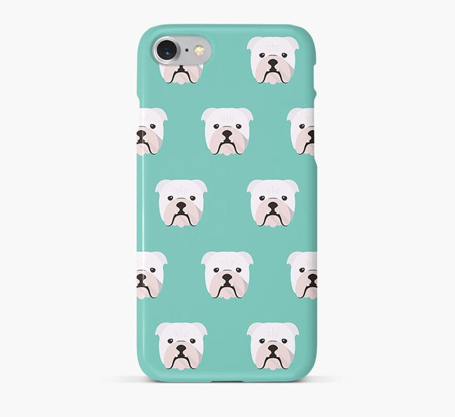 Phone Case with Bulldog Icons