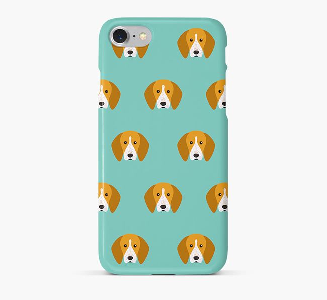 Phone Case with English Coonhound Icons