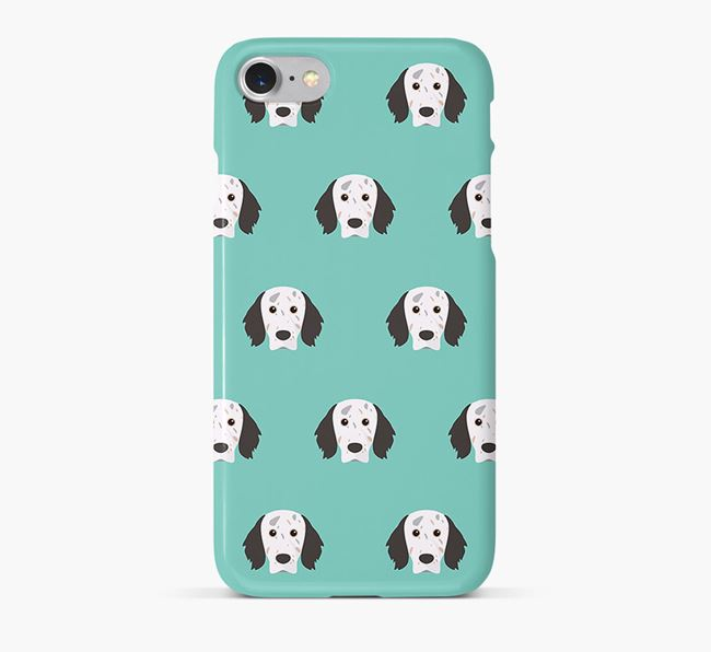 Phone Case with English Setter Icons