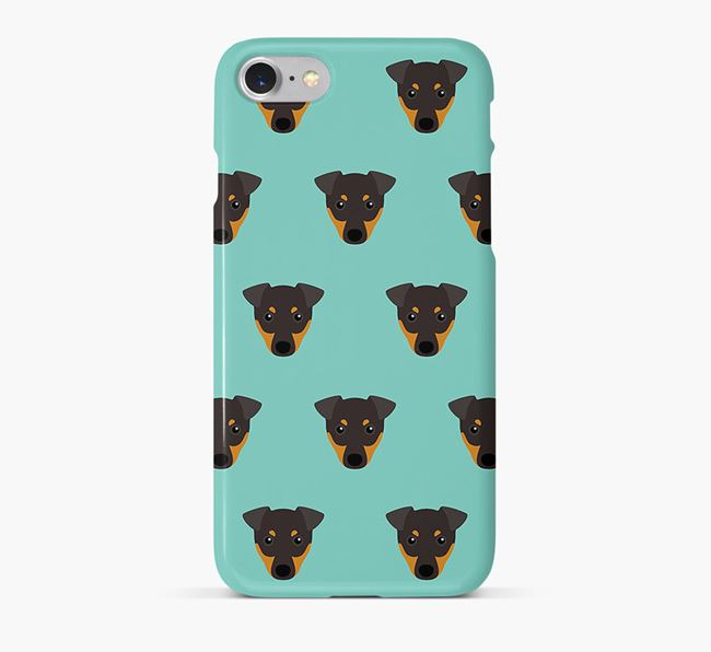 Phone Case with Toy Terrier Icons