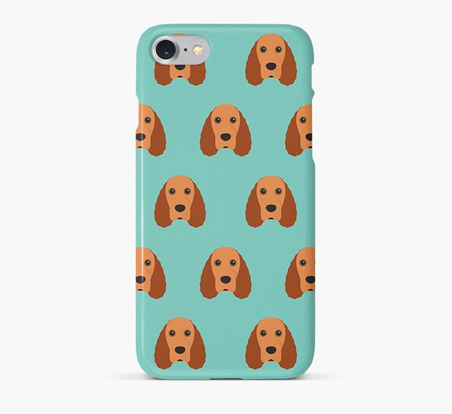 Phone Case with Field Spaniel Icons