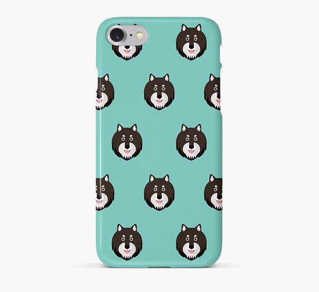 Phone Case with Finnish Lapphund Icons