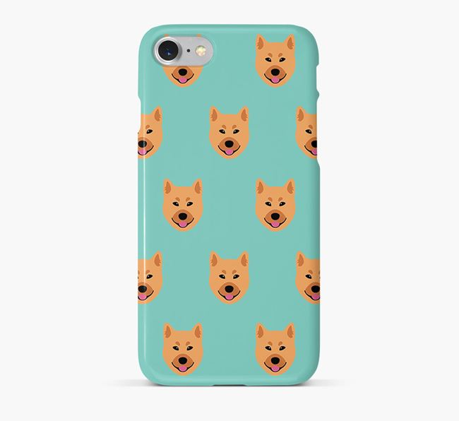 Phone Case with Finnish Spitz Icons