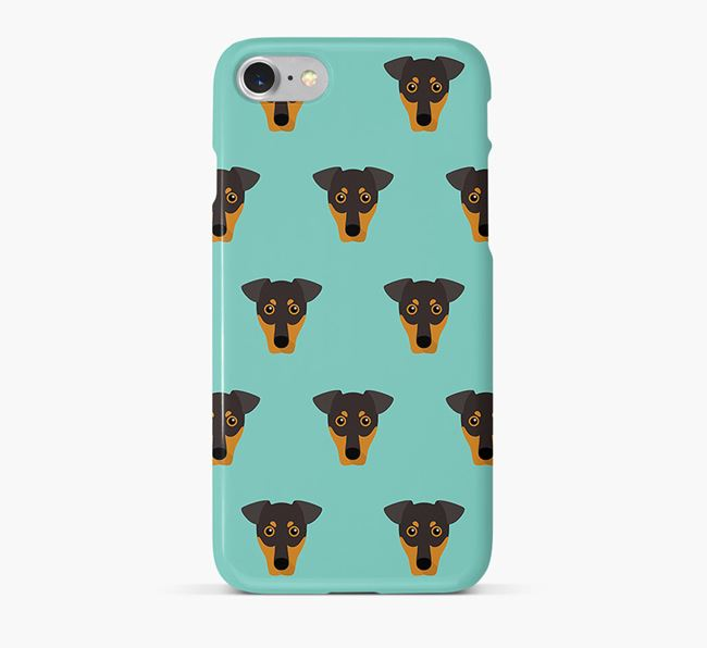 Phone Case with German Pinscher Icons