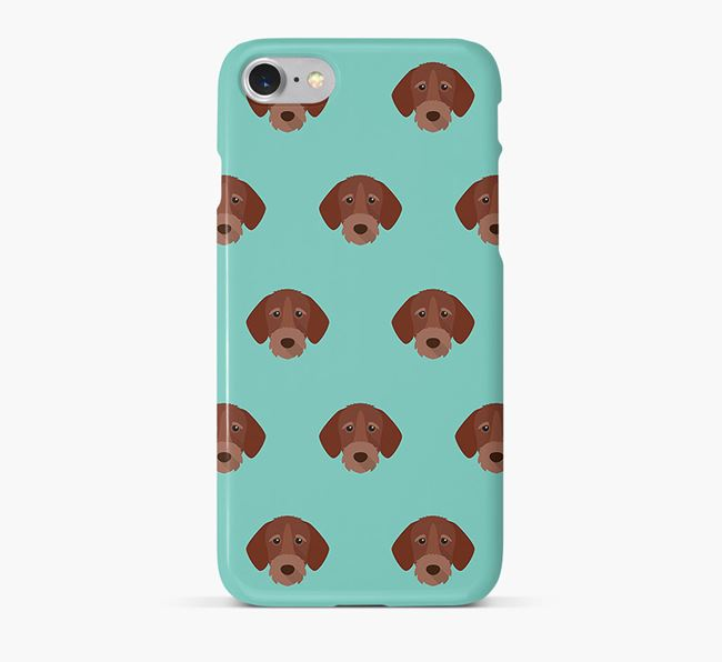 Phone Case with Wirehaired Pointer Icons