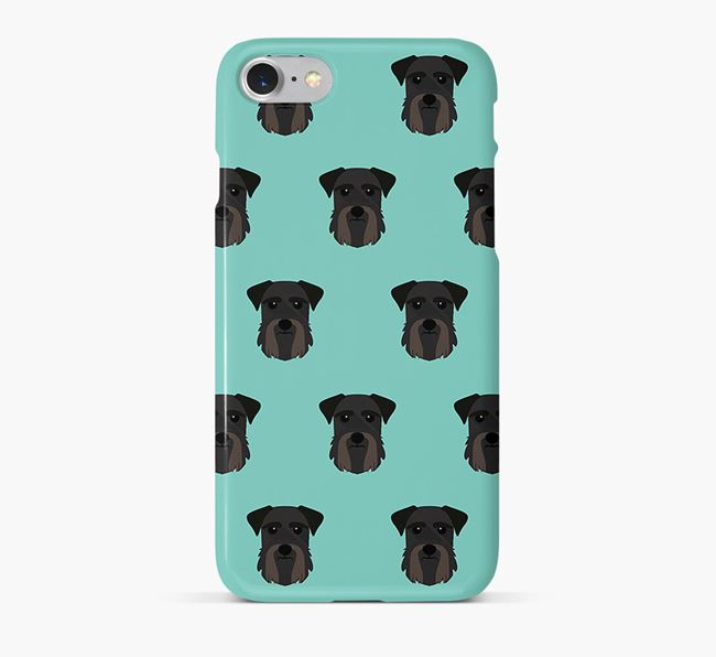 Phone Case with Giant Schnauzer Icons