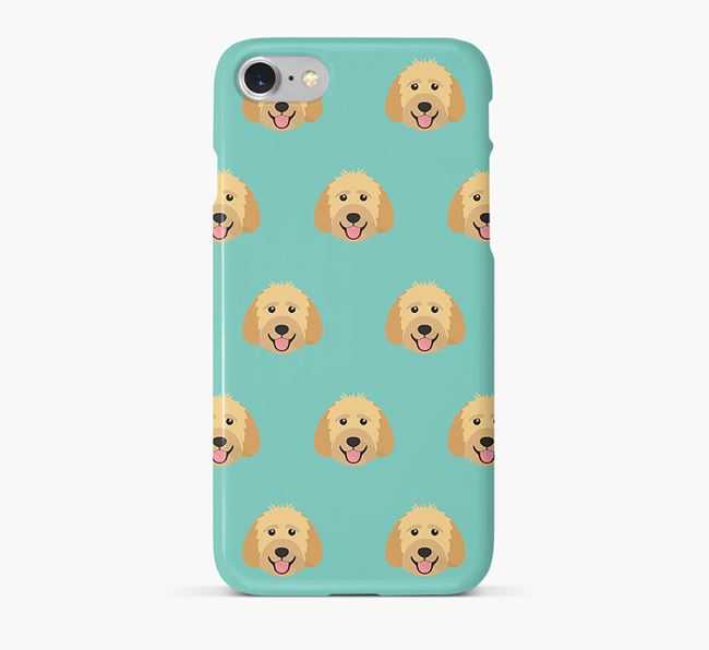 Phone Case with Goldendoodle Icons
