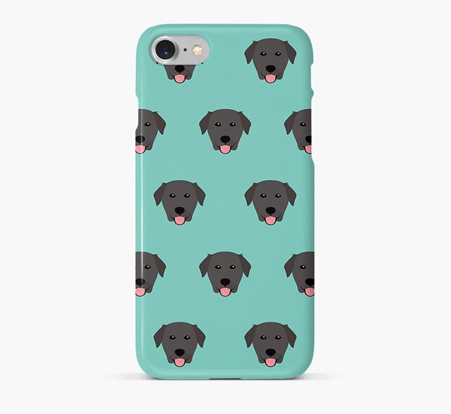 Phone Case with Golden Lab Icons