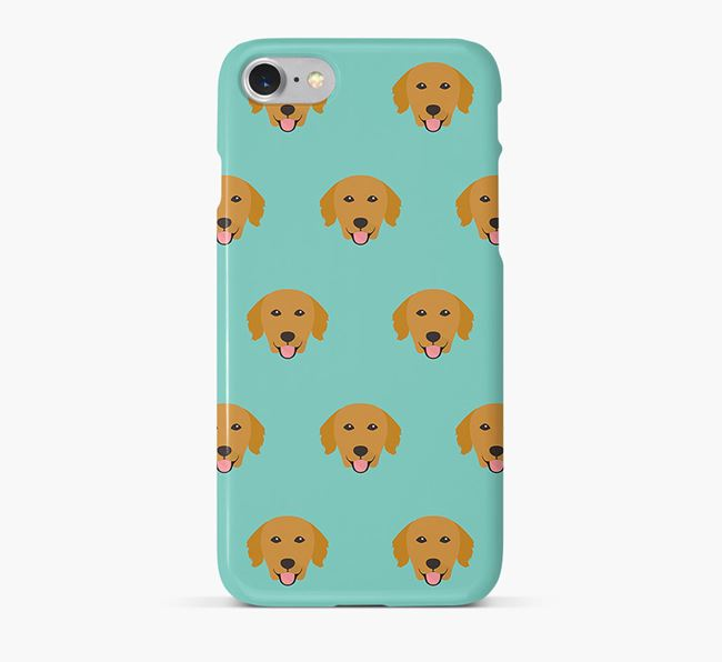 Phone Case with Golden Retriever Icons