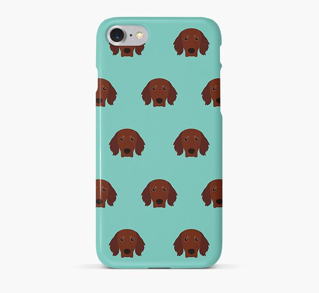 Phone Case with Gordon Setter Icons