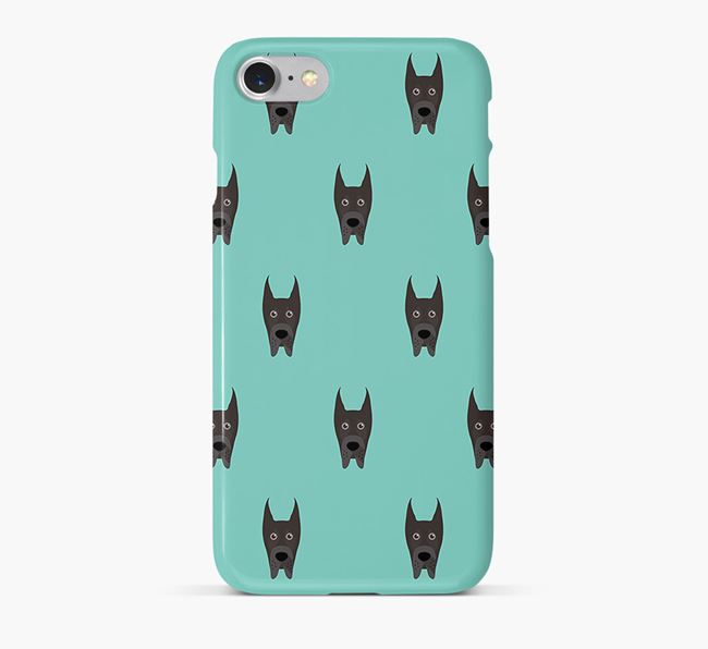 Phone Case with Great Dane Icons