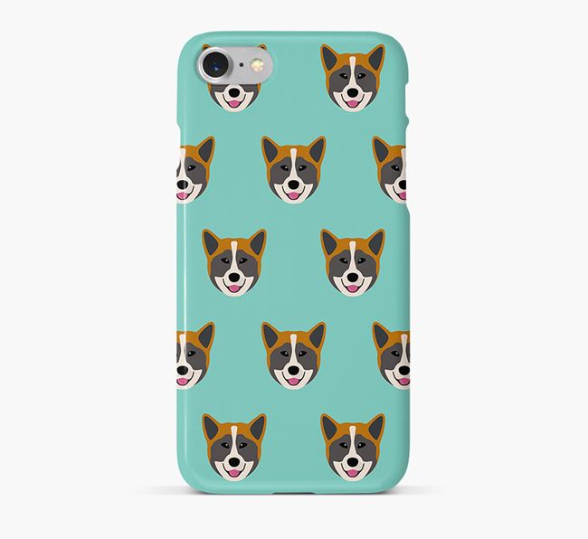 Phone Case with Greenland Dog Icons