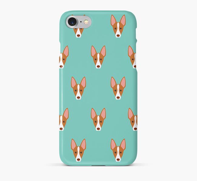 Phone Case with Ibizan Hound Icons