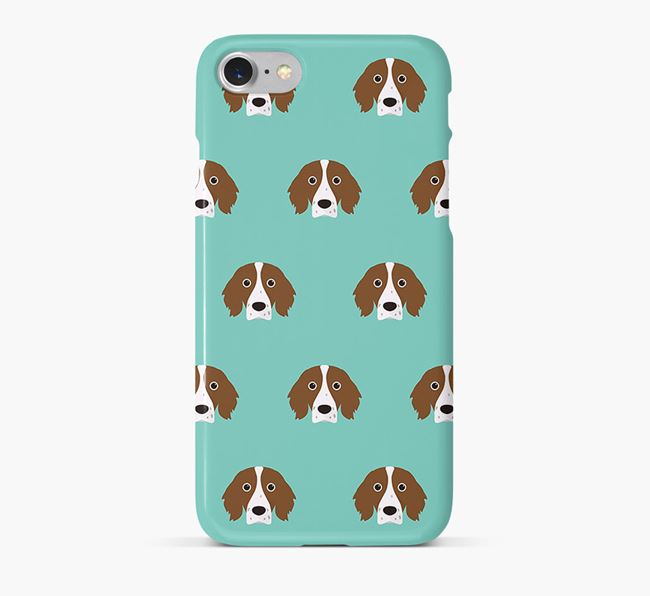 Phone Case with Red & White Setter Icons