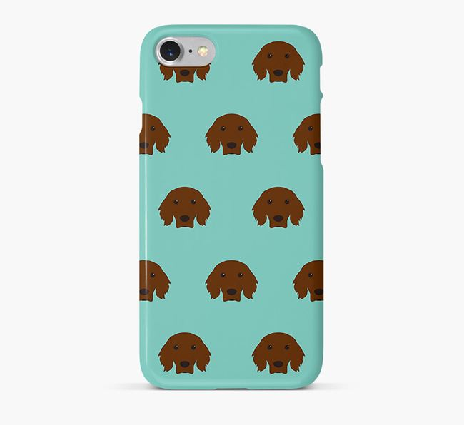 Phone Case with Irish Setter Icons