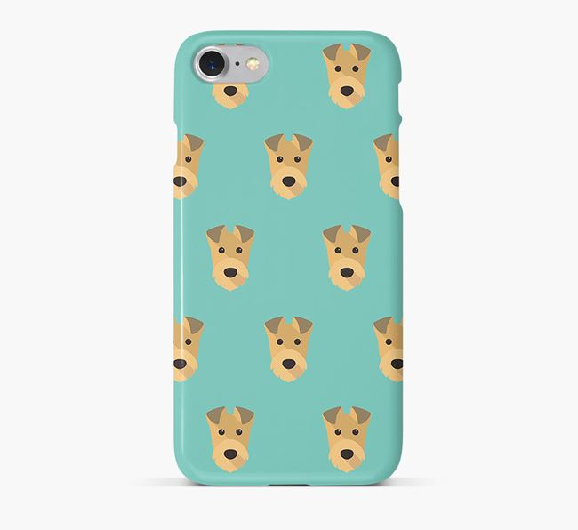 Phone Case with Irish Terrier Icons