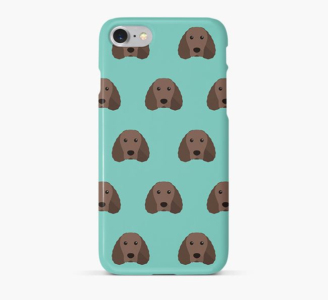 Phone Case with Water Spaniel Icons
