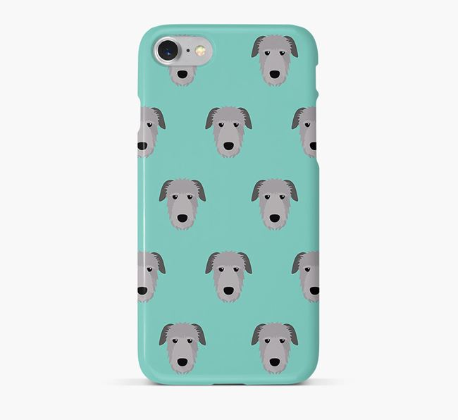 Phone Case with Irish Wolfhound Icons