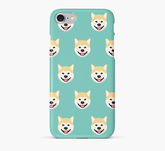 Phone Case with Akita Inu Icons