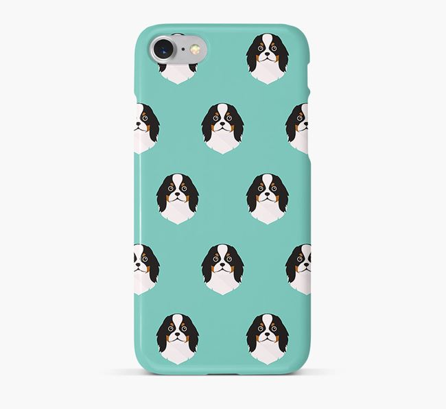 Phone Case with Japanese Chin Icons