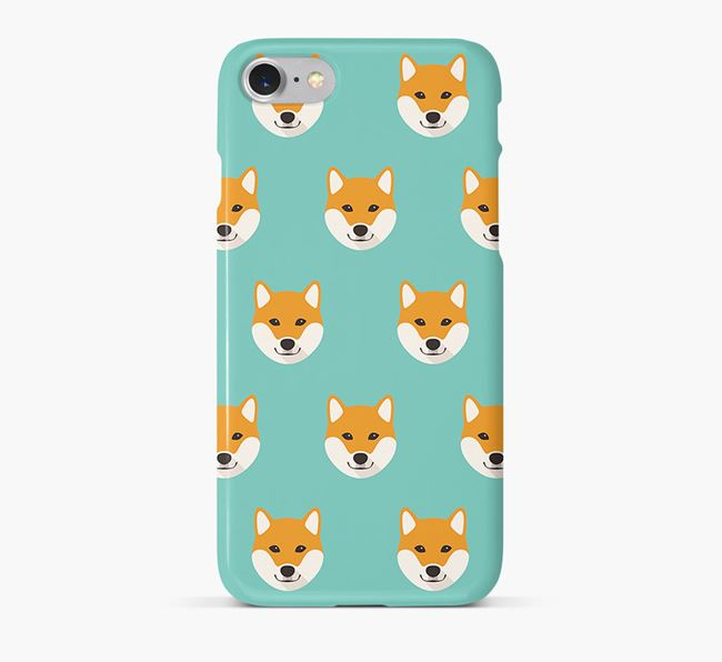Phone Case with Shiba Inu Icons