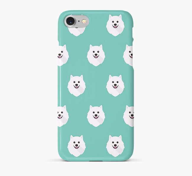 Phone Case with Japanese Spitz Icons