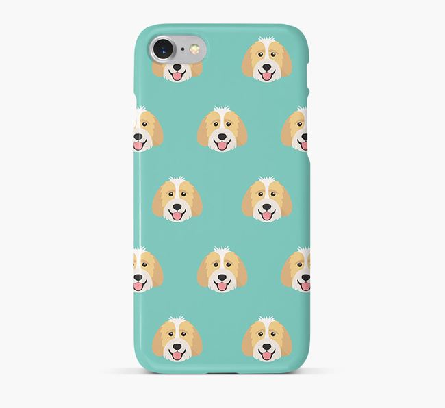 Phone Case with Labradoodle Icons