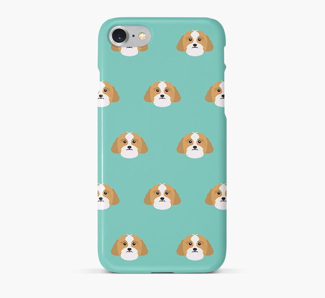Phone Case with Lhasa Apso Icons
